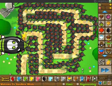 Bloons Tower Defense 5 - Sniper Monkey Army VS 5 ZOMGS