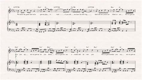 Flute - Never Gonna Give You Up - Rick Astley - Sheet